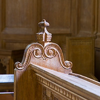 Detail of woodwork at Hafod.