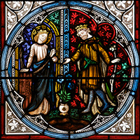Scene from the Life of St Winifrede, at Holywell.