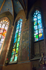 Mural decoration and stained glass by Stanisław Wyspiański, Franciscan Church, Kracow