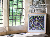 Artwork by Martin Crampin at Llanychaer church, Pembrokeshire