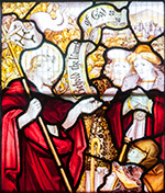 Stained glass window by C.E. Kempe at Newbridge-on-Wye.