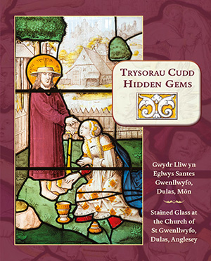 Cover of the book with stained glass panel.
